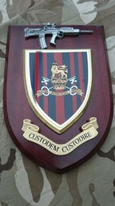 Military Provost Guard Service Wall Plaque + Pewter SA80
